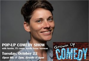 Pop-up Comedy Show: from Austin, TX - Arielle Isaa...