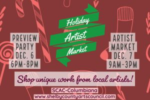 Holiday Artist Market Preview Party