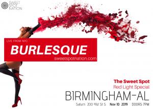 BURLESQUE! The Sweet Spot Birmingham: Red Light Special