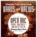 Bards & Brews Open Mic at Birmingham Improv Theatre