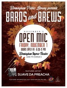 Bards & Brews Open Mic at Birmingham Improv Th...