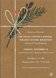 The Crisis Center's Annual Holiday Giving Breakfast