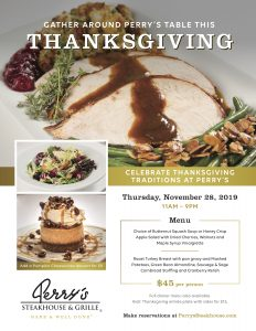 Perry's Steakhouse & Grille Serves Up Thanksgiving Experience
