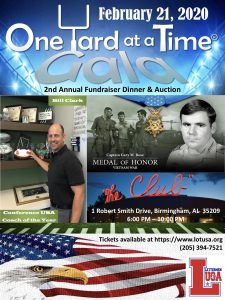 Lettermen of the USA One Yard at a Time Gala