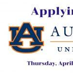 Applying to Auburn