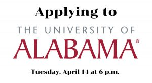 Applying to Alabama