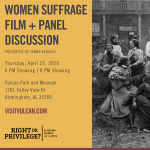 JENNA BEDSOLE PRESENTS WOMEN SUFFRAGE FILM + PANEL DISCUSSION