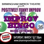 """Positively Funny Improv presents """"Improv Bingo!"""""""