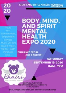 Body, Mind, and Spirit Mental Health Expo 2020