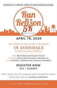 Sozo Children's 9th Annual Run for a Reason