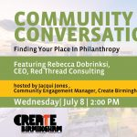 Community Conversation with Rebecca Dobrinski