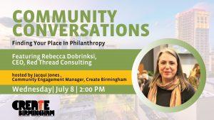 Community Conversation with Rebecca Dobrinski