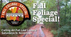 Fall Foliage Special at Heart of Dixie Railroad Museum