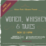 Women, Whiskey and Taxes Lecture