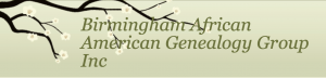 The BIRMINGHAM AFRICAN AMERICAN GENEALOGY GROUP monthly meeting for OCTOBER.