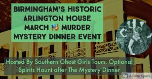 March Murder Mystery Dinner & Optional Spirits...