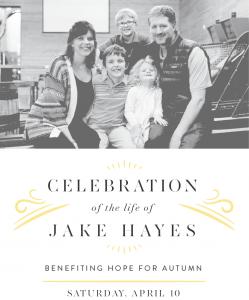 (Canceled) Jake's Celebration of Life