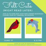 Felt Cute (Might Read Later) Corner Bookmark Craft