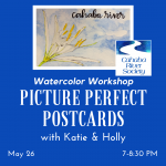 Picture Perfect Postcards - Watercolor Workshop featuring the Cahaba Lily