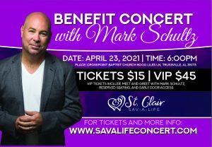 Benefit Concert with Mark Schultz