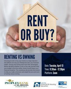 Renting vs Owning FREE Financial Workshop