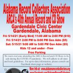 Alabama Record Collectors 40th annual Vinyl Record and CD Show