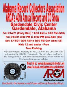 Alabama Record Collectors 40th annual Vinyl Record...