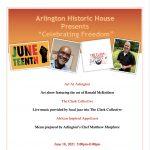 "Arlington Historic House Presents ""Celebrating Freedom"""