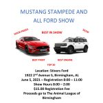 Mustang Stampede and All Ford Car Show at Stivers Ford benefiting The Animal League of Birmingham