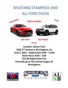 Mustang Stampede and All Ford Car Show at Stivers ...