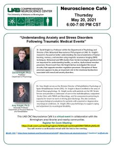 """UAB Neuroscience Cafe': """"Anxiety and Stress Diso..."""