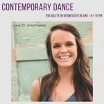 Adult contemporary dance class