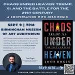 Chaos Under Heaven: A Conversation with Josh Rogin