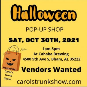 Halloween Pop-up Shop at Cahaba Brewing Co.