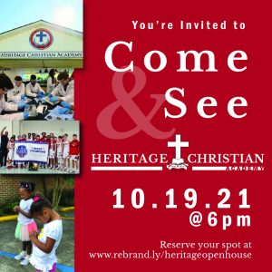 Come & See Heritage Christian Academy