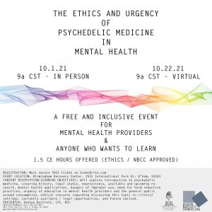 The Ethics and Urgency of Psychedelic Medicine in Mental Health