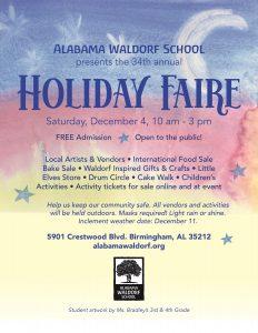 Alabama Waldorf School Holiday Faire 2021
