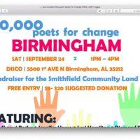 100,000 Poets for Change Birmingham