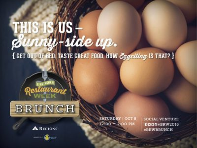 BRUNCH presented by Birmingham Restaurant Week 2016