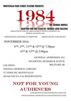 "Montevallo Main Street Players present ""1984"""