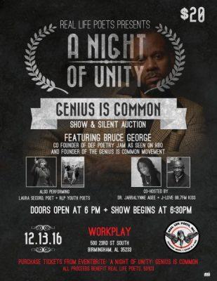 A Night of Unity: Genius is Common