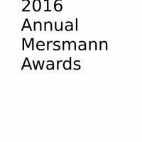 UAB Writer's Series Presents: 2016 Annual Mersmann Awards