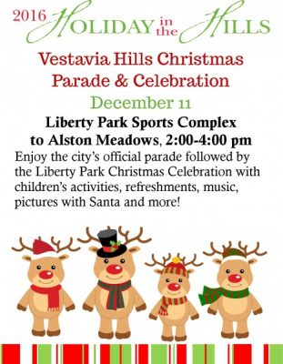 City of Vestavia Hills Christmas Parade & Celebration