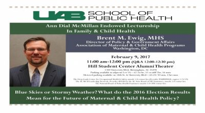 The Ann Dial McMillan Endowed Lectureship in Family & Child Health