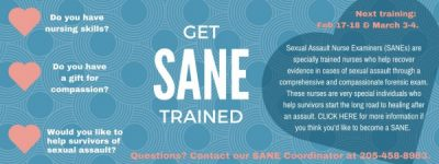 S.A.N.E. (Sexual Assault Nurse Examiner) Training Session