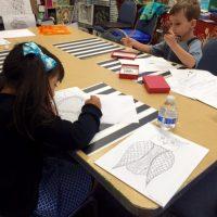 Afterschool Zentangle Class for Elementary Kids