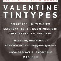 Gusdugger Tintype Photographs Valentine's Open Studio