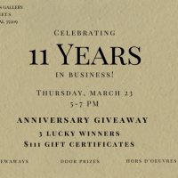 Eleventh Anniversary at Four Seasons Gallery