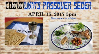 Community Passover Seder presented by Beth Hallel Birmingham