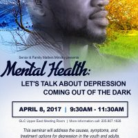Mental Health: Let's Talk About Depression-Coming Out of the Dark